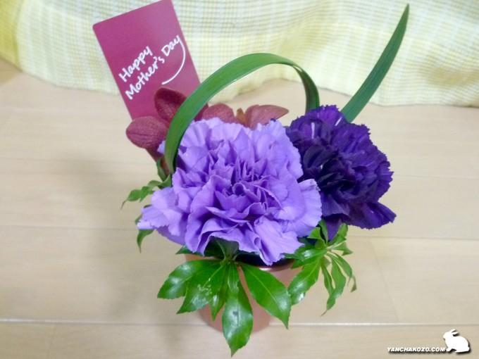小僧からの花